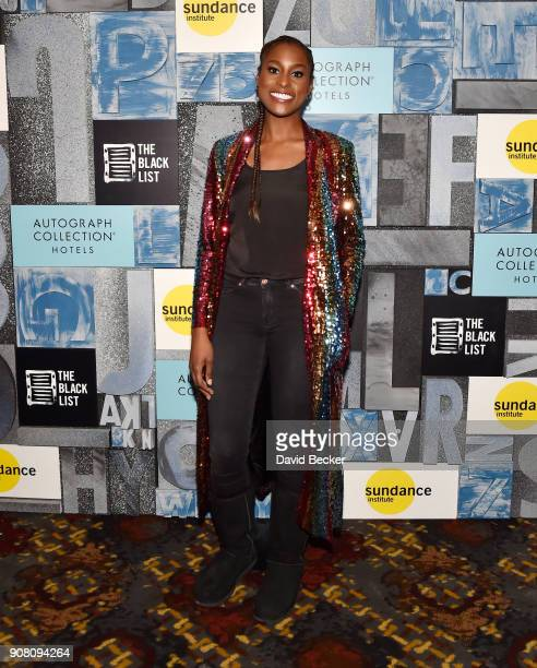 Actor Issa Rae attends the 'Power Women's Cocktail' with Autograph Collection Hotels the Black List and Sundance Institute Diversity Initiative...