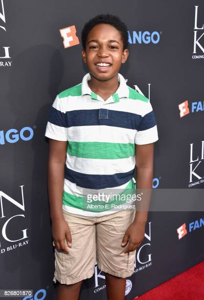 Actor Issac Ryan Brown at The Lion King SingAlong at The Greek Theatre in Los Angeles in celebration of the inhome release hosted by Walt Disney...