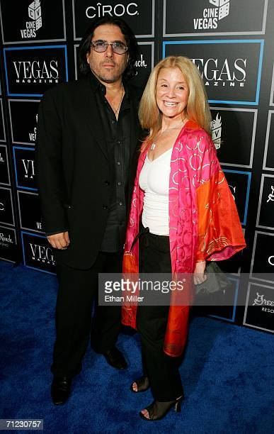 Actor Ivan Kane and Champagne Suzy arrive at the Vegas Magazine third anniversary party at the Green Valley Ranch Station Casino during the CineVegas...