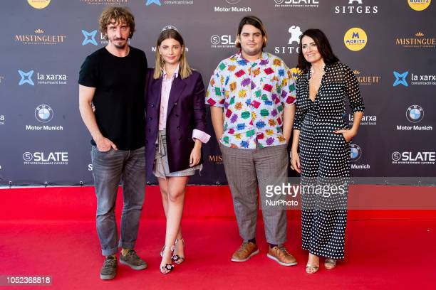 Actor Ivan Massague actress Miriam Giovanelli actor Brays Efe and actress Silvia Abril at the premiere of El ano de la plaga during the 51 edition of...