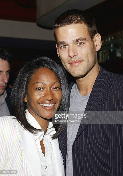 Actor Ivan Sergei and his wife Tanya attend the afterparty for 105 on April 28 2004 at Ocean Avenue Seafood in Santa Monica California
