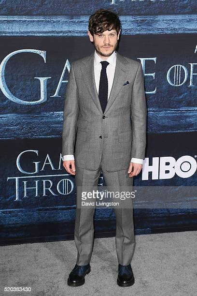 Actor Iwan Rheon arrives at the premiere of HBO's 'Game of Thrones' Season 6 at the TCL Chinese Theatre on April 10 2016 in Hollywood California