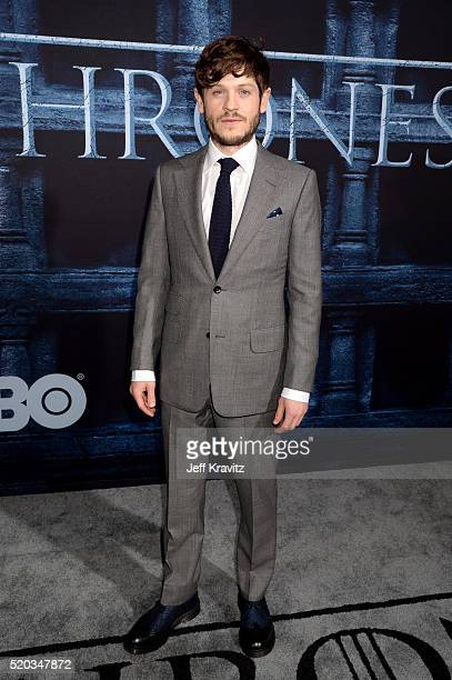 Actor Iwan Rheon attends the premiere for the sixth season of HBO's 'Game Of Thrones' at TCL Chinese Theatre on April 10 2016 in Hollywood City