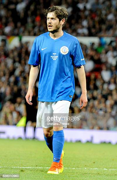 Actor Iwan Rheon plays during Soccer Aid at Old Trafford on June 5 2016 in Manchester England