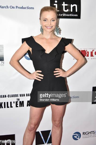 Actor Izabella Miko attends the premiere of Destination Films Kill 'em All at Harmony Gold on June 6 2017 in Los Angeles California