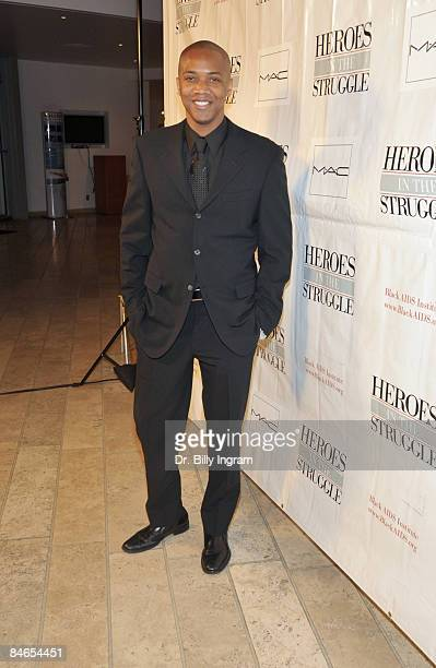 Actor J August Richards arrives at the 8th Annual Heroes In The Struggle Gala at the Walt Disney Concert Hall on February 4 2009 in Los Angeles...