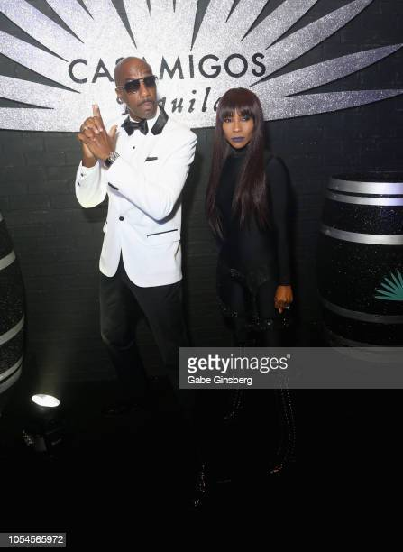 Actor J B Smoove and his wife Shahidah Omar attend Casamigos CATCH Halloween party at CATCH Las Vegas in ARIA Resort Casino on October 27 2018 in Las...