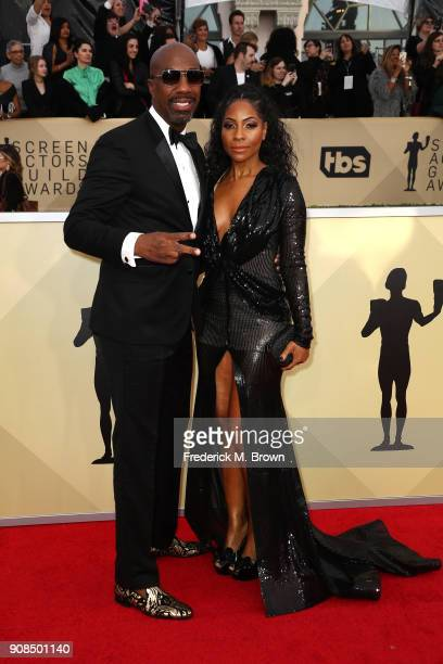Actor J B Smoove and Shahidah Omar attend the 24th Annual Screen Actors Guild Awards at The Shrine Auditorium on January 21 2018 in Los Angeles...