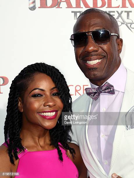 Actor J B Smoove and wife Shahidah Omar attend the premiere of New Line Cinema's Barbershop The Next Cut at the TCL Chinese Theatre on April 6 2016...