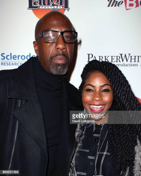 Actor J B Smoove and wife Shahidah Omar attend the Winter Comedy Ball at The Laugh Factory on December 14 2017 in West Hollywood California