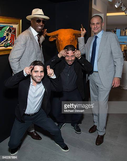 Actor J. B. Smoove, Matthew Kirschner, Michael Heller and Ronn Torossian attend the JetSmarter and Opera Gallery VIP party at Opera Gallery on June...