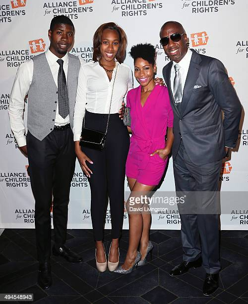Actor J B Smoove wife Shahidah Omar and daughter attend the Alliance for Children's Rights 5th Annual Right to Laugh comedy benefit at Avalon on May...