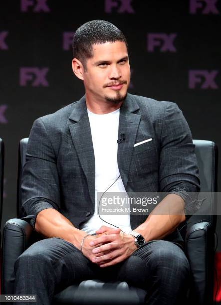 Actor J D Pardo speaks onstage at the 'Mayans MC' panel during the FX Network portion of the Summer 2018 TCA Press Tour at The Beverly Hilton Hotel...