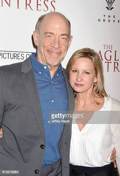 Actor J K Simmons and Michelle Schumacher arrive at the Premiere Of Sony Pictures Classics' 'The Eagle Huntress' at Pacific Theaters at the Grove on...