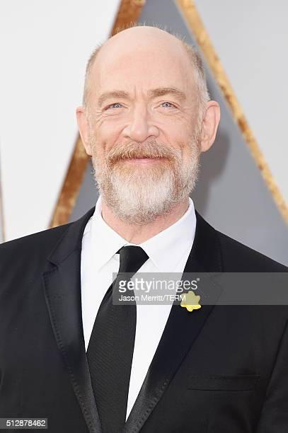 Actor J K Simmons attends the 88th Annual Academy Awards at Hollywood Highland Center on February 28 2016 in Hollywood California