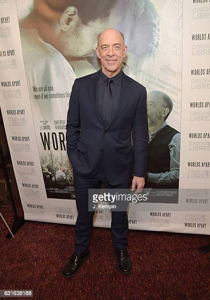 Actor J K Simmons attends the premiere of Worlds Apart at Village East Cinema on January 13 2017 in New York City