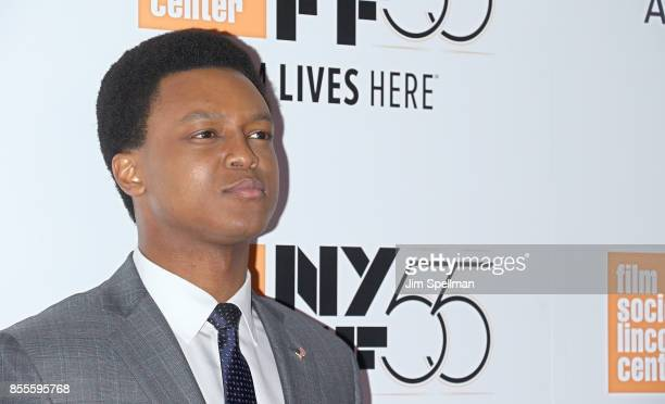 Actor J Quinton Johnson attends 55th New York Film Festival opening night premiere of 'Last Flag Flying' at Alice Tully Hall Lincoln Center on...