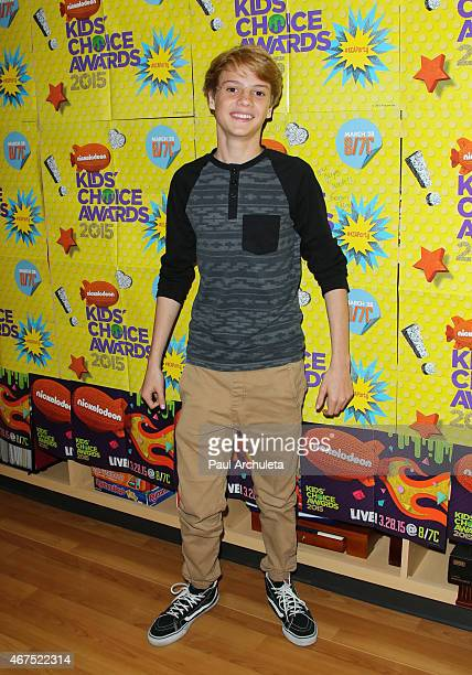 Actor Jace Norman attends Nickelodeon's talent bring The Kids Choice Awards experience to Children's Hospital Los Angeles at The Children's Hospital...