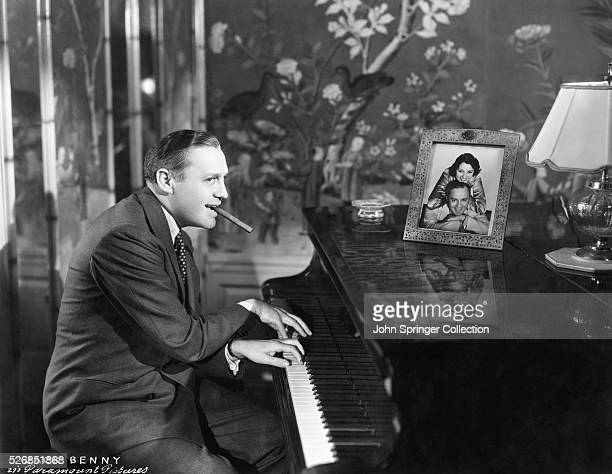 Actor Jack Benny Playing the Piano