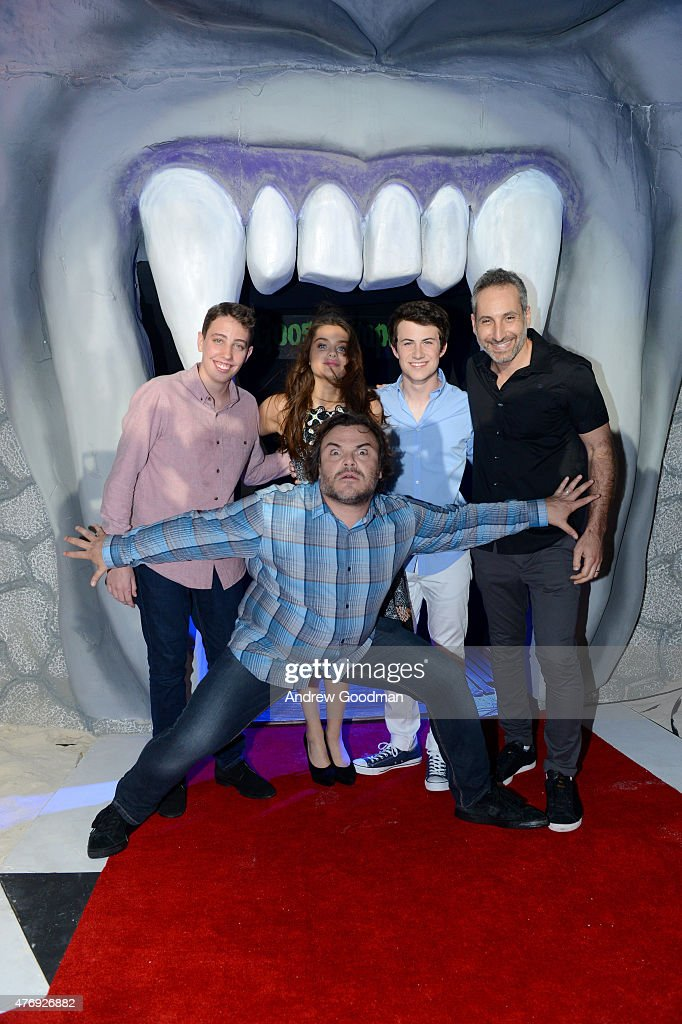 Actor Jack Black, actor Ryan Lee, actress Odeya Rush, actor Dylan Minnette, and director Rob Letterman attend 'Goosebumps' photo call during Summer Of Sony Pictures Entertainment 2015 at The Ritz-Carlton Cancun on June 12, 2015 in Cancun, Mexico. #SummerOfSonyPictures #GoosebumpsMovie