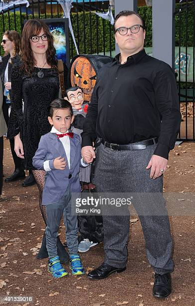 Actor Jack Black and family attend the Premiere Of Sony Entertainment's 'Goosebumps' at the Regency Village Theater on October 4 2015 in Westwood...