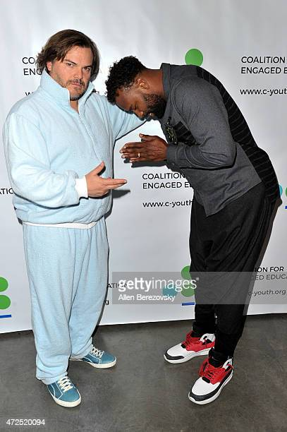 Actor Jack Black and former NBA player Baron Davis attend the Poetic Justice 2015 Fundraiser for Coalition for Engaged Education at Herb Alpert...