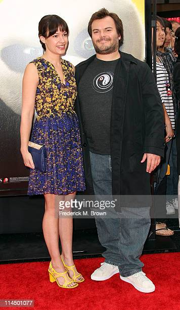 Actor Jack Black and his wife attend the Premiere of DreamWorks Animation's Kung Fu Panda 2 at Mann's Chinese Theatre on May 22 2011 in Hollywood...