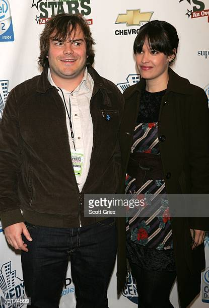 Actor Jack Black and his wife Tanya Haden attends the Night Of Too Many Stars An Overbooked Benefit For Autism Education at the Beacon Theatre...