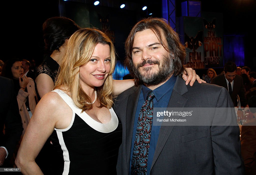 Actor Jack Black (R) and Tanya Haden attend the 2013 Film Independent Spirit Awards at Santa Monica Beach on February 23, 2013 in Santa Monica, California.