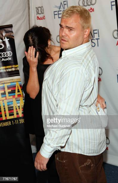 Actor Jack Black and wife Tanya Haden arrive at the Margot at the Wedding screening during AFI FEST 2007 presented by Audi held at Arclight Cinemas...