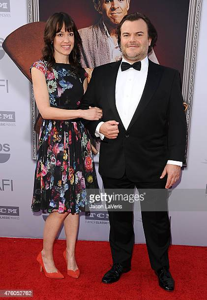 Actor Jack Black and wife Tanya Haden attend the 43rd AFI Life Achievement Award gala at Dolby Theatre on June 4 2015 in Hollywood California
