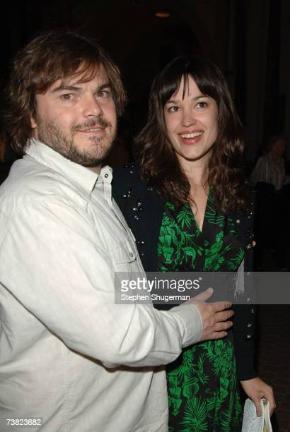 Actor Jack Black and wife Tanya Haden attend the LA premiere of Paramount Vantage's Year Of The Dog at the Paramount Pictures Theater on April 5 2007...