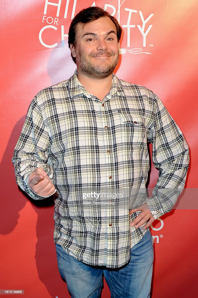 Actor Jack Black arrives at Hilarity For Charity fundraiser benefiting The Alzheimer's Association at Avalon on April 25, 2013 in Hollywood, California.