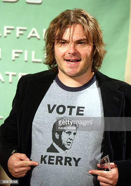 Actor Jack Black arrives at the 2004 Crystal Lucy Awards A Family Affair Women in Film Celebrates The Paltrow Family at the Century Plaza Hotel on...