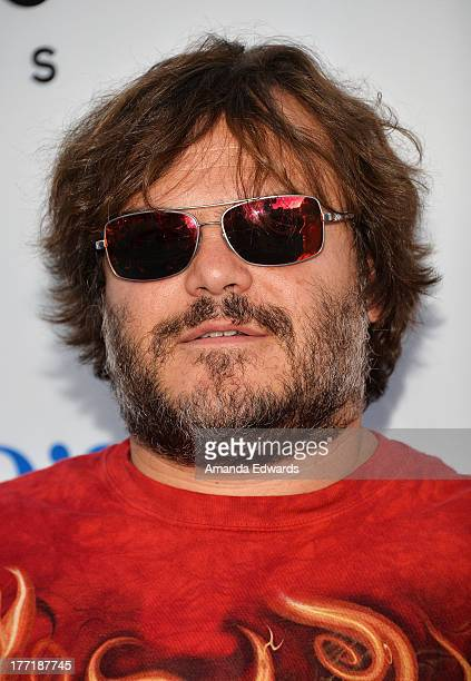 """Actor Jack Black arrives at the Los Angeles premiere of """"The World's End"""" at ArcLight Cinemas Cinerama Dome on August 21, 2013 in Hollywood,..."""