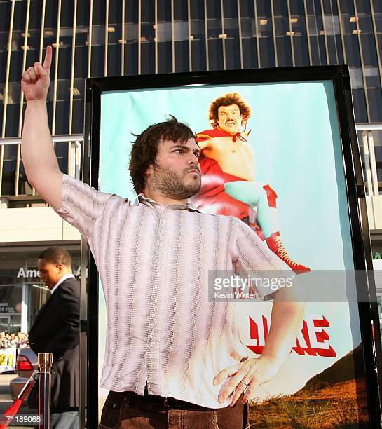Actor Jack Black arrives at the premiere of Paramount Pictures 'Nacho Libre' held at the Grauman's Chinese Theatre on June 12 2006 in Hollywood...