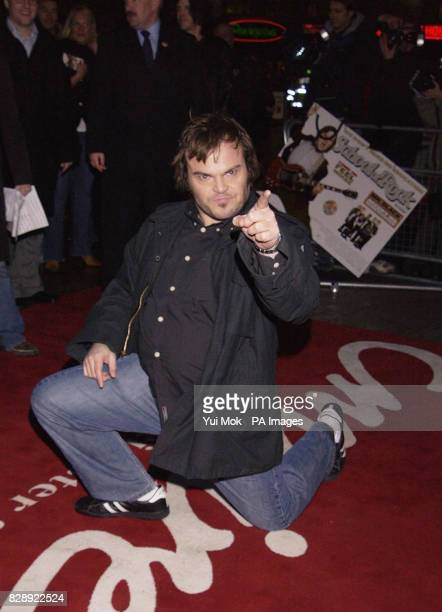 Actor Jack Black arrives for the UK premiere of his latest film School Of Rock held at the Empire Leicester Square central London