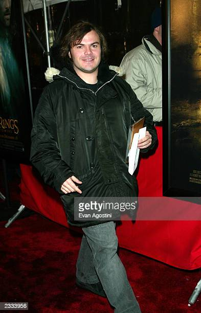 Actor Jack Black attending 'The Lord Of The Rings The Two Towers' World Premiere at The Ziegfeld Theater in New York City December 5 2002 Photo by...