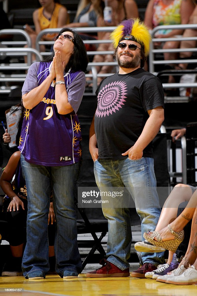 Actor Jack Black attends a game between the Los Angeles Sparks and the Phoenix Mercury at Staples Center on September 15, 2013 in Los Angeles, California.