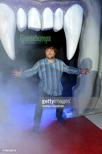 """Actor Jack Black attends """"Goosebumps"""" photo call during Summer Of Sony Pictures Entertainment 2015 at The Ritz-Carlton Cancun on June 12, 2015 in..."""