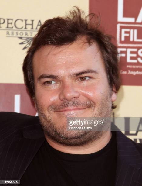 Actor Jack Black attends the 2011 Los Angeles Film Festival Bernie opening night premiere held at Regal Cinemas LA Live on June 16 2011 in Los...