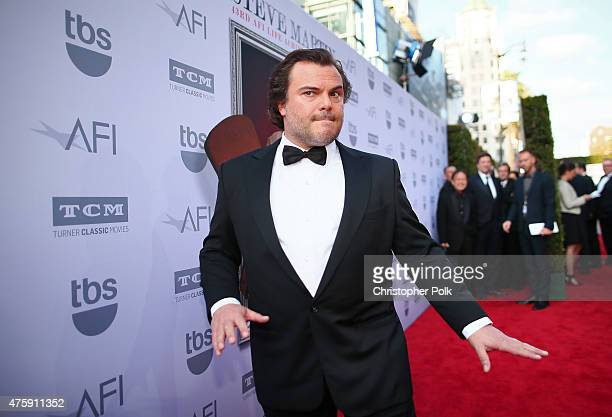 Actor Jack Black attends the 2015 AFI Life Achievement Award Gala Tribute Honoring Steve Martin at the Dolby Theatre on June 4 2015 in Hollywood...