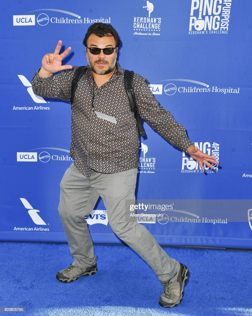 Actor Jack Black attends the 5th Annual Ping Pong 4 Purpose on July 27, 2017 in Los Angeles, California.