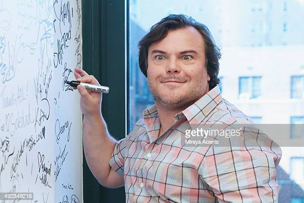 Actor Jack Black attends the AOL Build Presents 'Goosebumps' at AOL Studios in New York on October 12 2015 in New York City