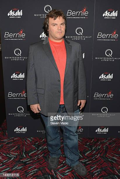 Actor Jack Black attends the Bernie New York Premiere at AMC Loews 19th Street East 6 theater on April 23 2012 in New York City