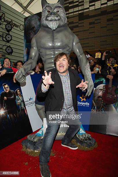 Actor Jack Black attends the 'Goosebumps' Mexico City premiere at Cinepolis Paseo Acoxpa on October 18 2015 in Mexico City Mexico