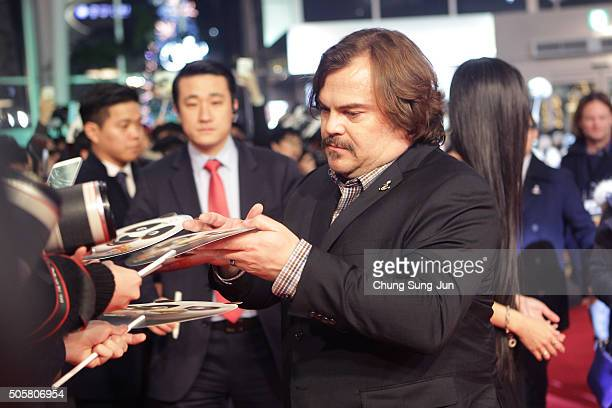 """Actor Jack Black attends the premiere for """"Kung Fu Panda 3"""" on January 20, 2016 in Seoul, South Korea. Jack Black is visiting South Korea to promote..."""