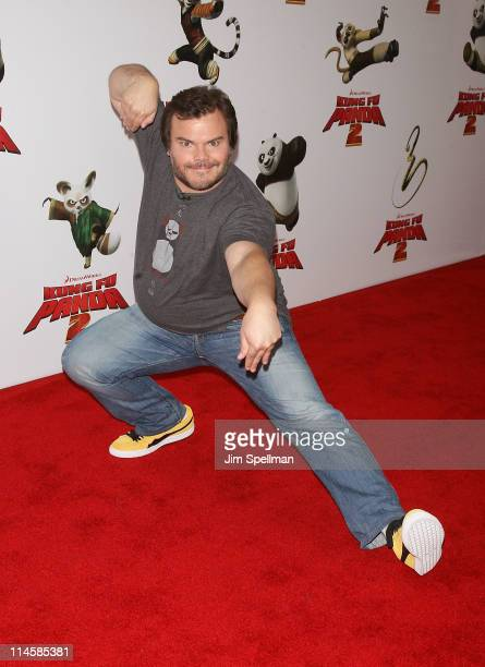 "Actor Jack Black attends the premiere of ""Kung Fu Panda 2"" at Ziegfeld Theatre on May 24, 2011 in New York City."