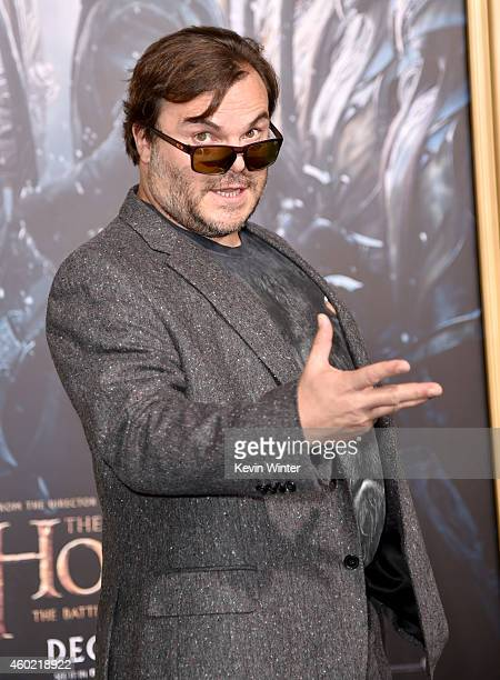 Actor Jack Black attends the premiere of New Line Cinema MGM Pictures and Warner Bros Pictures' The Hobbit The Battle of the Five Armies at Dolby...