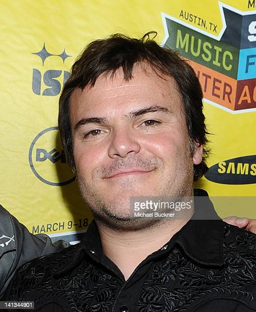 Actor Jack Black attends the world premiere of Bernie during the 2012 SXSW Music Film Interactive Festival at Paramount Theatre on March 13 2012 in...